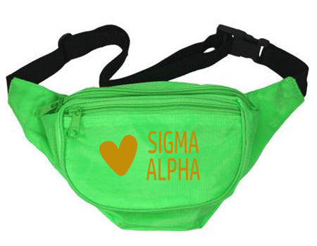 Sigma Alpha Heart Fanny Pack