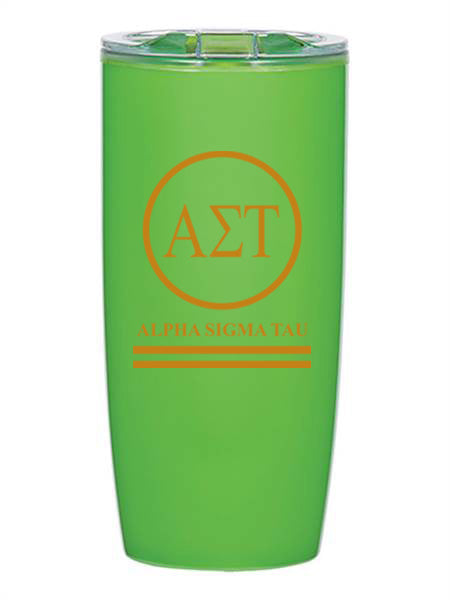 Alpha Sigma Tau Circle Stripes 19 oz Everest Tumbler