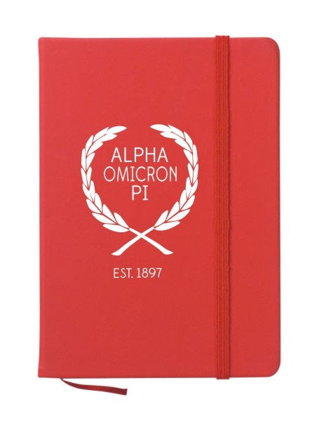 Alpha Omicron Pi Laurel Notebook