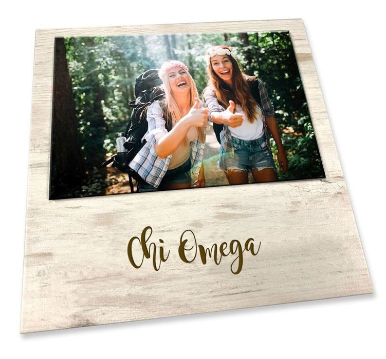 Chi Omega Script Wood Picture Frame