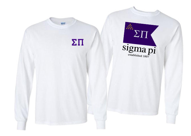 Sigma Pi Long Sleeve Flag Tee