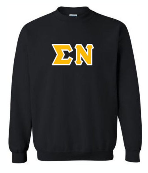Classic Colors Sewn-On Letter Crewneck