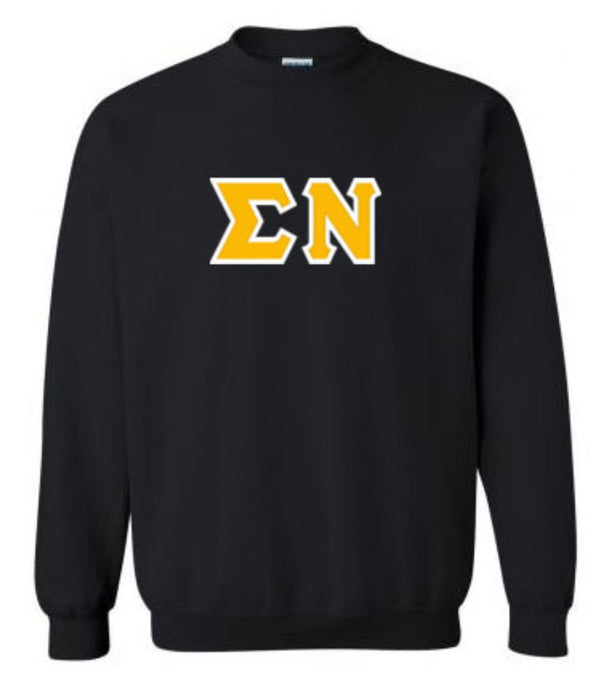 Sigma Nu Classic Colors Sewn-On Letter Crewneck