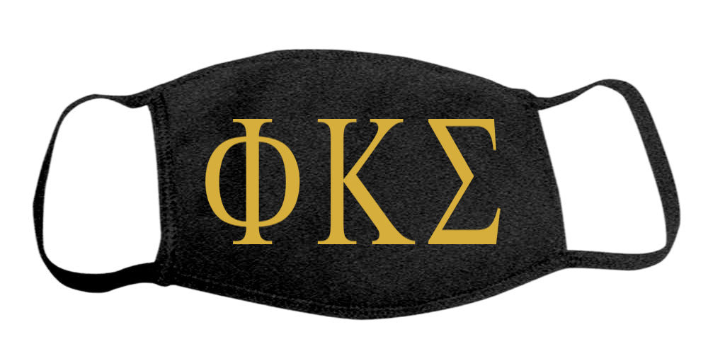 Phi Kappa Sigma Face Mask With Big Greek Letters