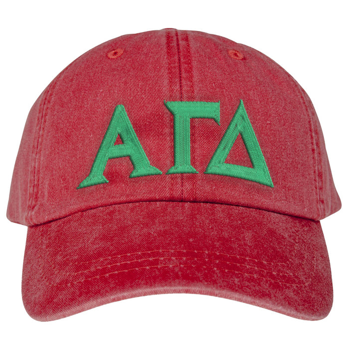 Alpha Gamma Delta Greek Letter Embroidered Hat