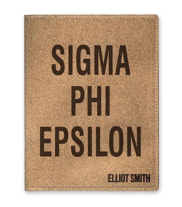 Sigma Phi Epsilon Cork Portfolio with Notepad