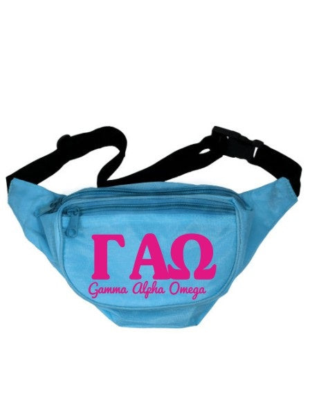 Gamma Alpha Omega Letters Layered Fanny Pack