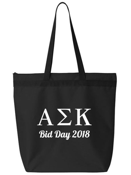 Alpha Sigma Kappa Roman Letters Event Tote Bag