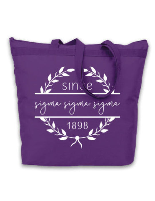 Sigma Sigma Sigma Since Established Tote