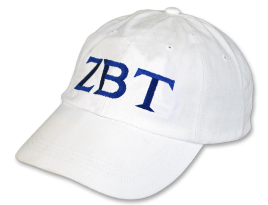 Zeta Beta Tau Greek Letter Embroidered Hat