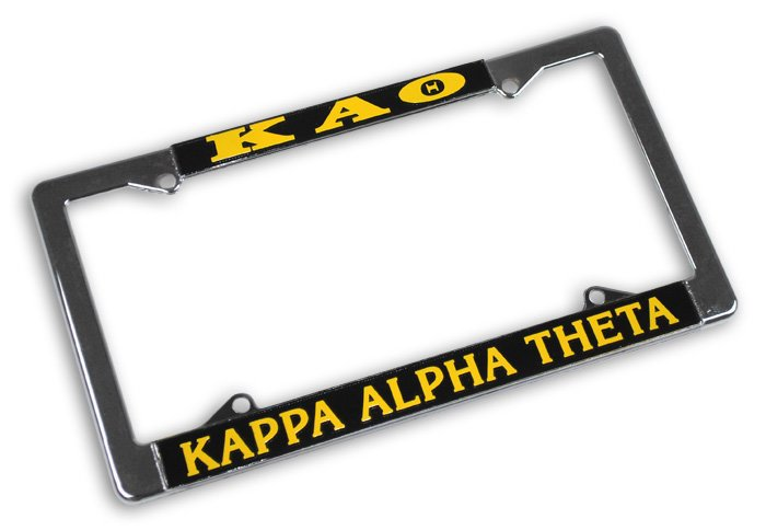 Kappa Alpha Theta License Plate Frame
