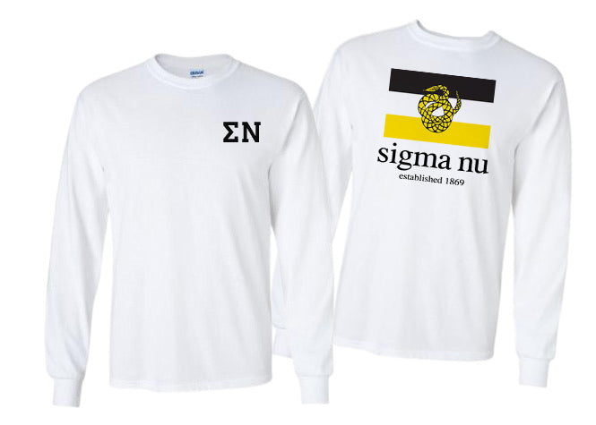 Sigma Nu Long Sleeve Flag Tee