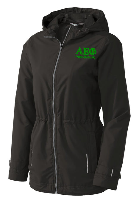Alpha Epsilon Phi Embroidered Ladies Northwest Slicker