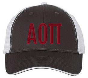 Alpha Omicron Pi Greek Trucker Cap