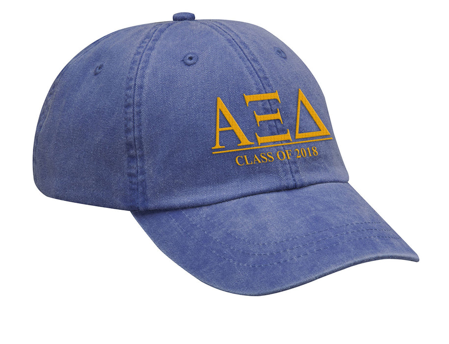 Alpha Xi Delta Embroidered Hat with Custom Text