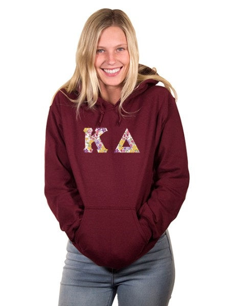 Kappa Delta Unisex Hooded Sweatshirt with Sewn-On Letters