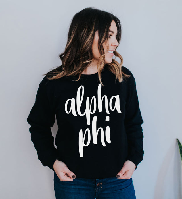 Alpha Phi Superscript Crewneck Sweatshirt