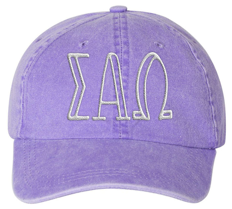 Sigma Alpha Omegas Sorority Greek Carson Embroidered Hat