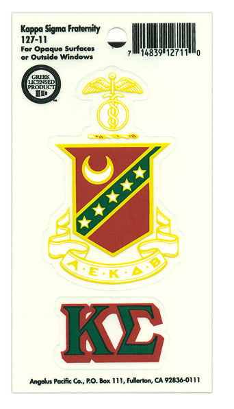 Kappa Sigma Crest Decal