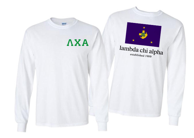 Lambda Chi Alpha Long Sleeve Flag Tee