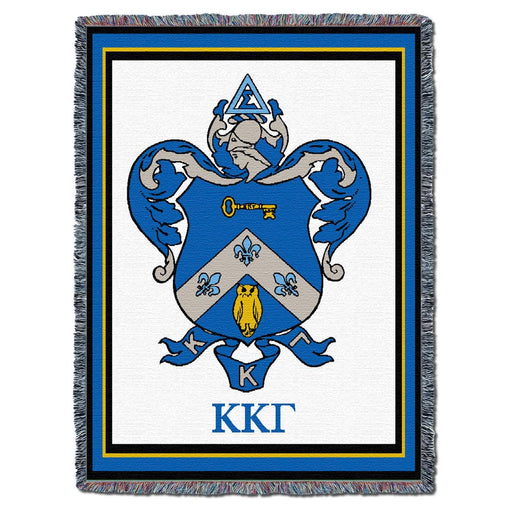 Kappa Kappa Gamma Afghan Blanket Throw