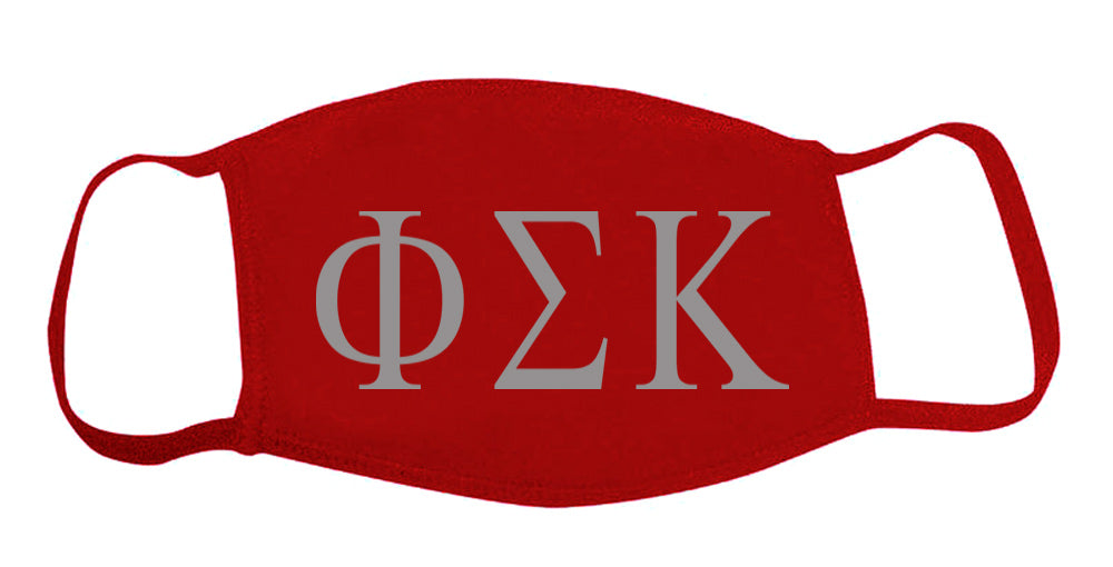 Phi Sigma Kappa Face Mask With Big Greek Letters