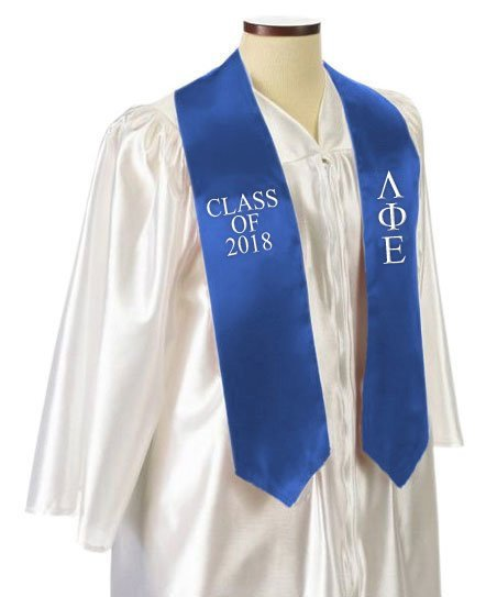 Lambda Phi Epsilon Classic Colors Embroidered Grad Stole