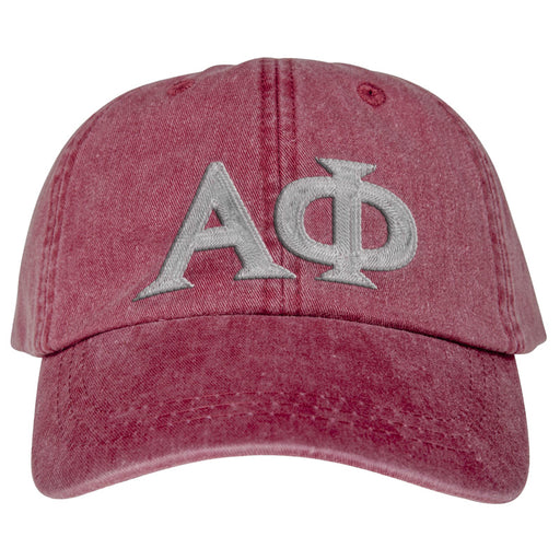 Alpha Phi Greek Letter Embroidered Hat