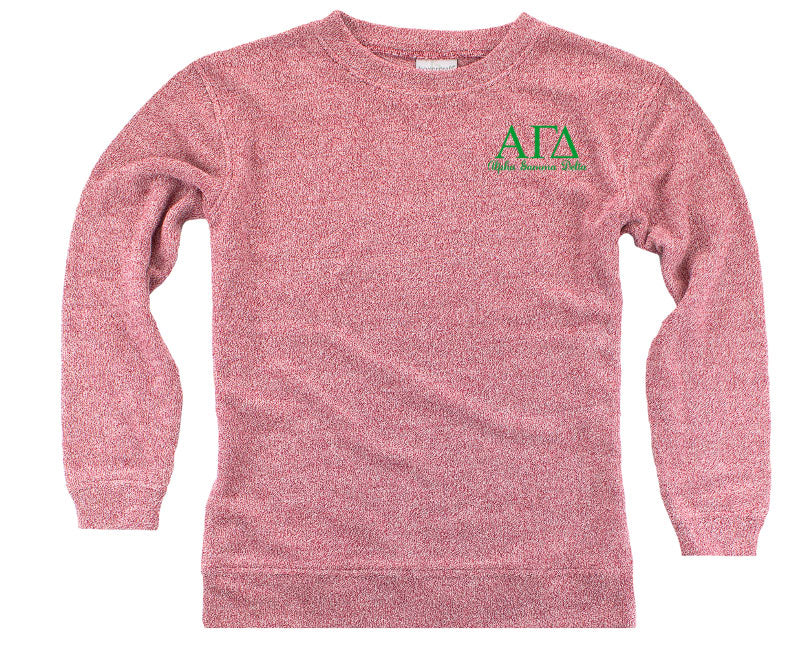 Alpha Gamma Delta Lettered Cozy Sweater
