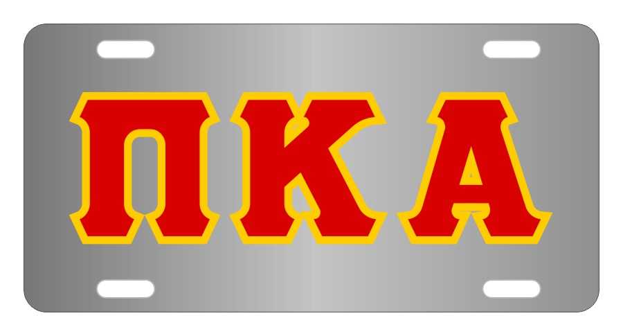 Pi Kappa Alpha Fraternity License Plate Cover