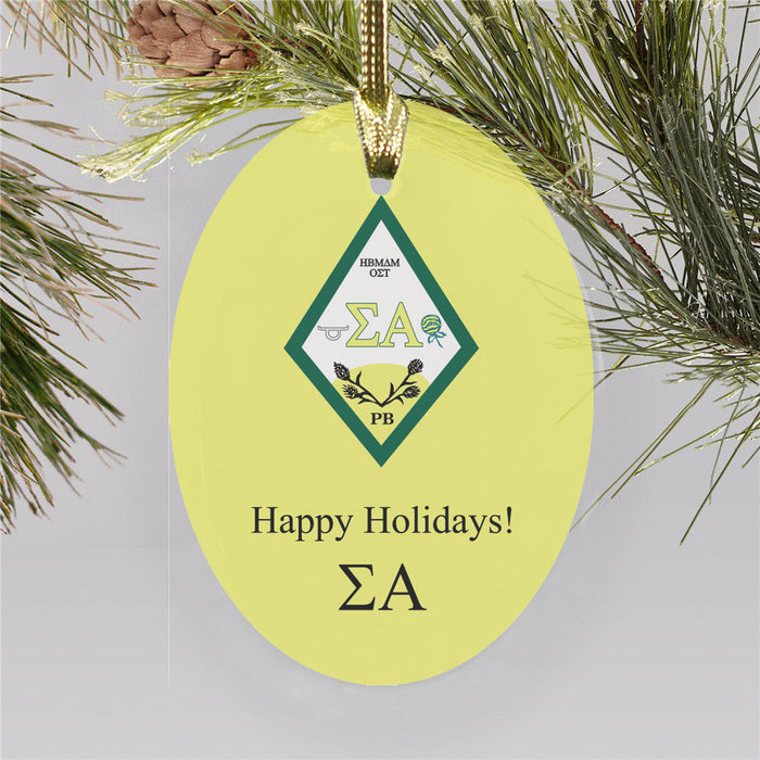 Sigma Alpha Color Crest Ornament