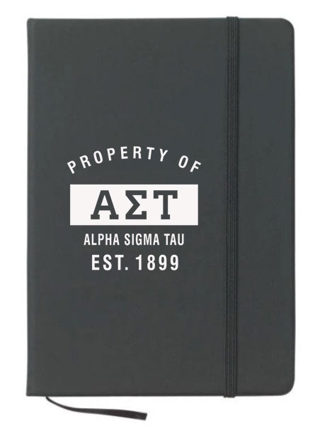 Alpha Sigma Tau Property of Notebook