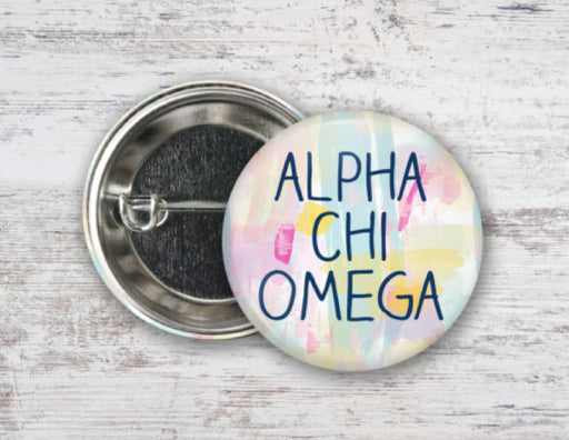 Sorority Pastel Strokes Button