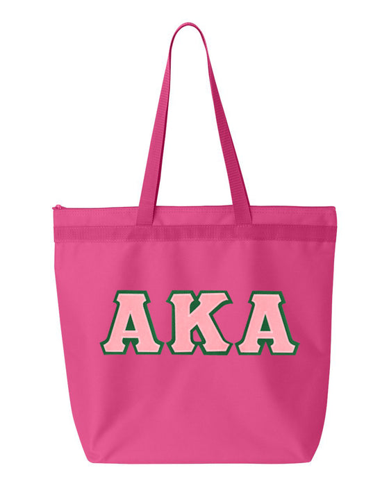 Alpha Kappa Alpha Greek Lettered Game Day Tote