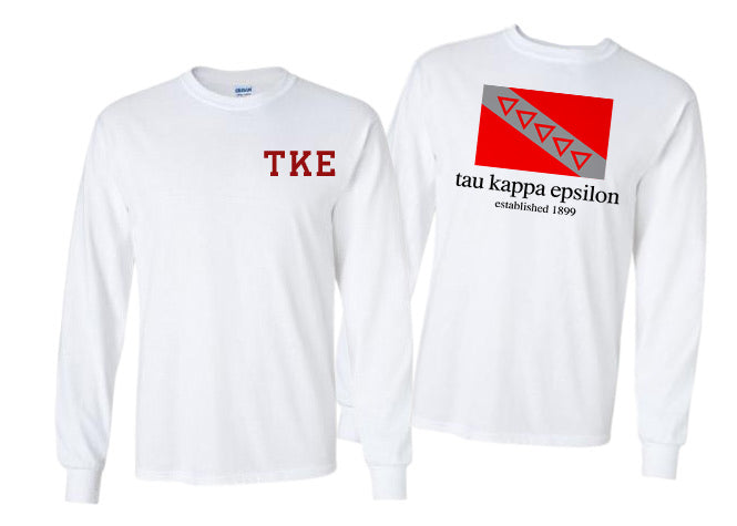 Tau Kappa Epsilon Long Sleeve Flag Tee