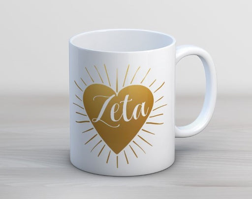 Zeta Tau Alpha Heart Burst Coffee Mug