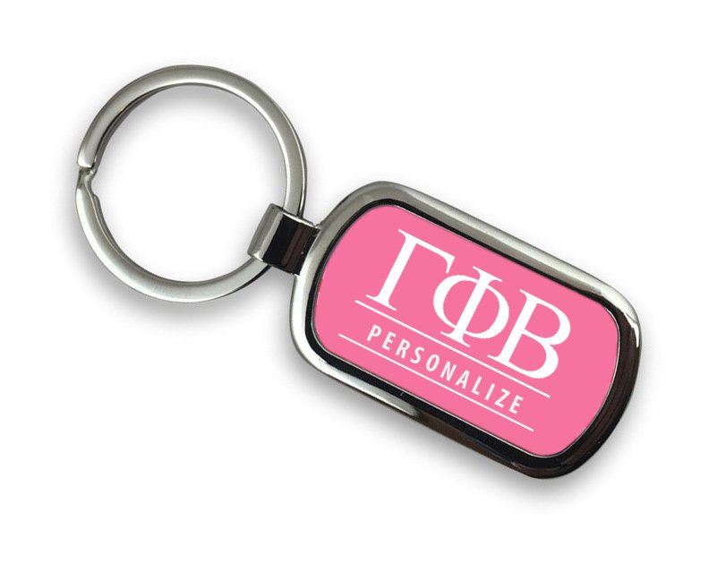 Gamma Phi Beta Chrome Key Chain