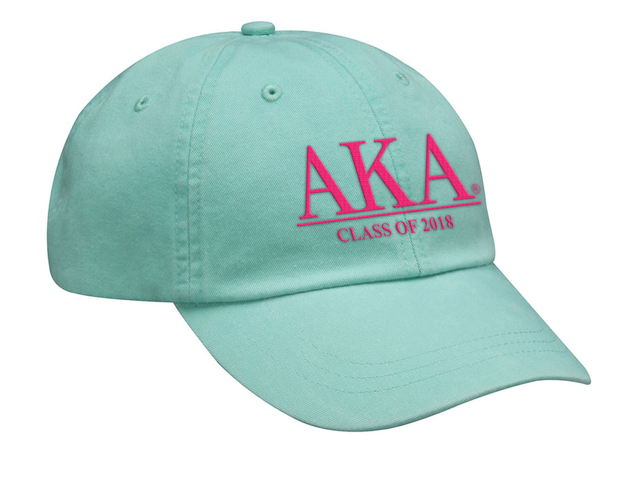 Alpha Kappa Alpha Embroidered Hat with Custom Text