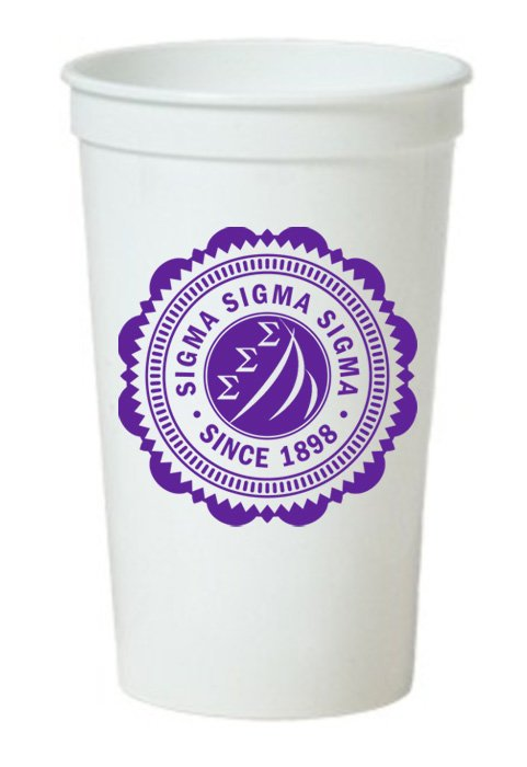 Sigma Sigma Sigma Classic Oldstyle Giant Plastic Cup