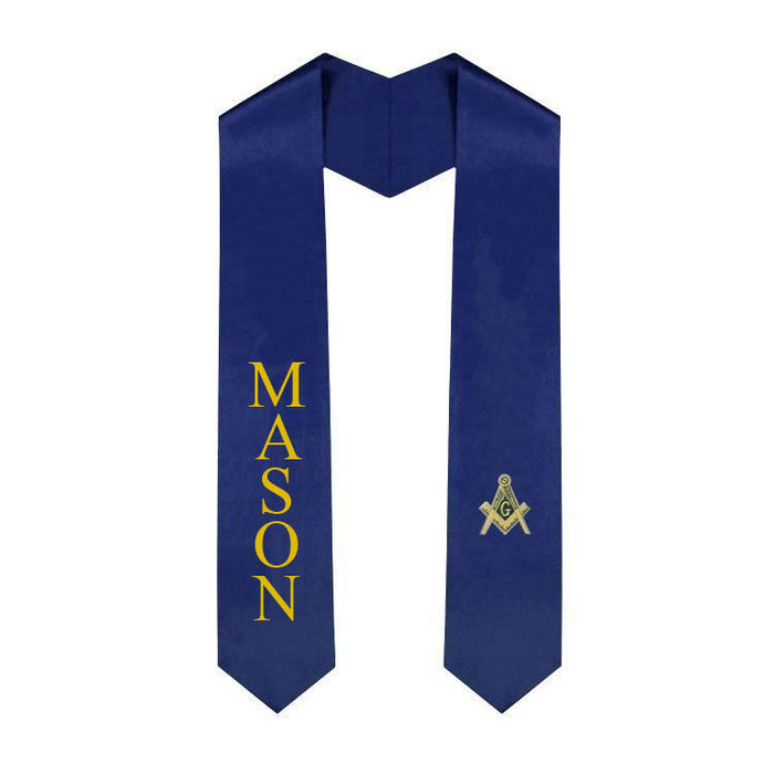 Masonic Graduation Sash Stole 57 Lettered Graduation Sash Stole with Crest