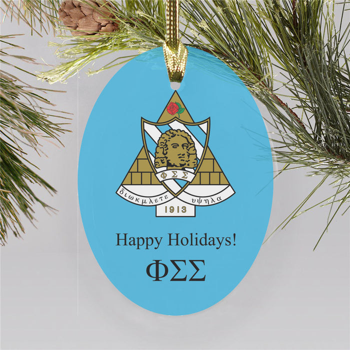 Phi Sigma Sigma Color Crest Ornament