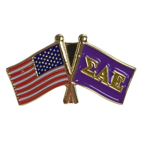 Sigma Alpha Epsilon USA / Fraternity Flag Pin