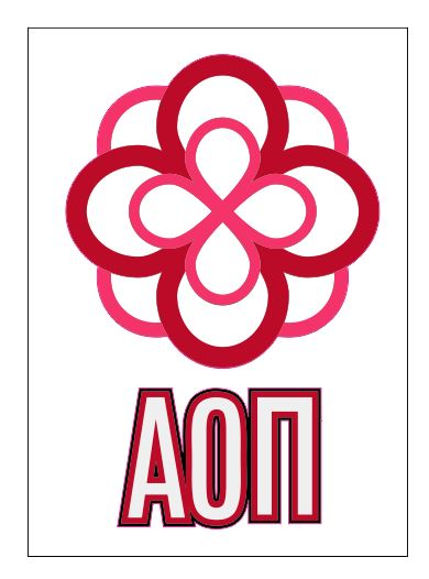 Alpha Omicron Pi Crest Decal