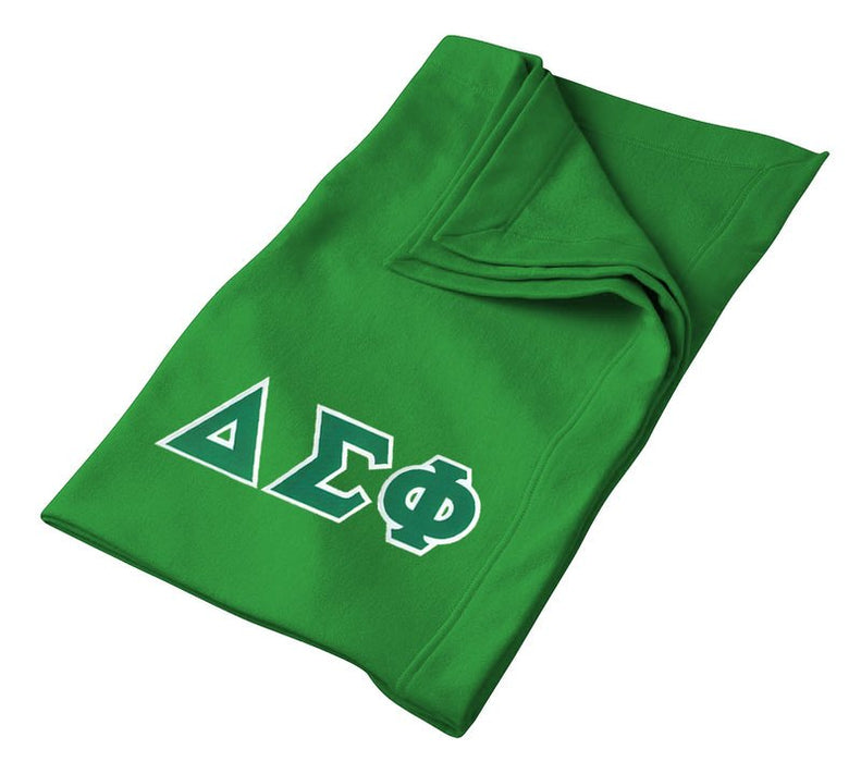 Delta Sigma Phi Greek Twill Lettered Sweatshirt Blanket