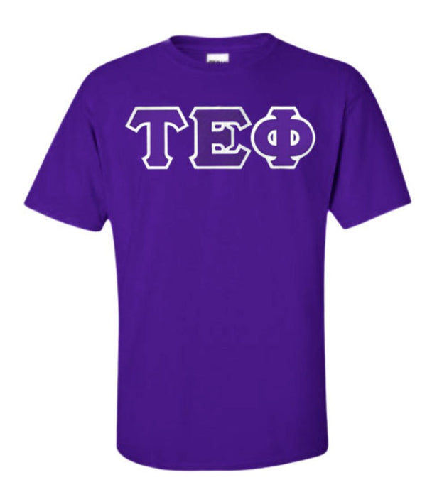 Tau Epsilon Phi Lettered T Shirt