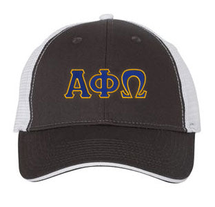 Alpha Phi Omega Greek Trucker Cap