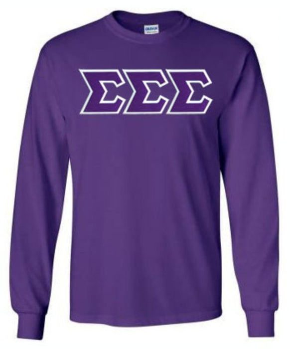 Sigma Sigma Sigma Long Sleeve Greek Lettered Tee