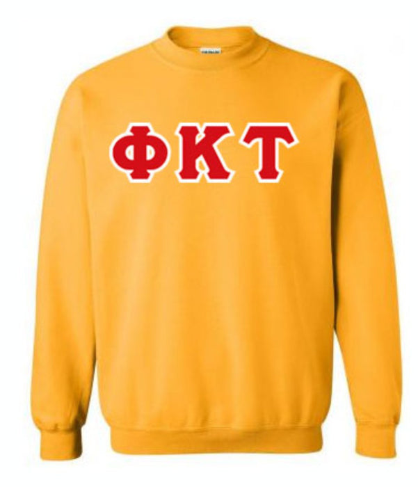 Phi Kappa Tau Classic Colors Sewn-On Letter Crewneck