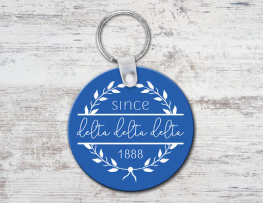 Delta Delta Delta Since Established Keyring