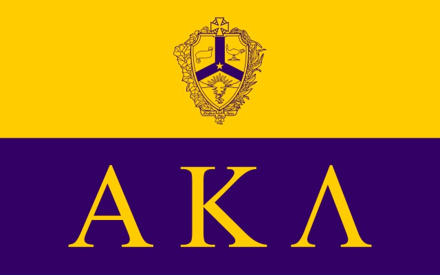 Alpha Kappa Lambda Fraternity Flag Sticker